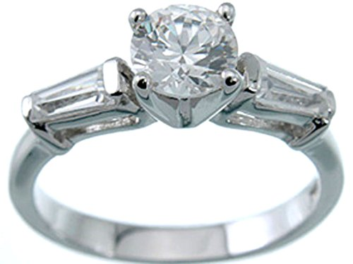 Rhodium-Plated-925-Sterling-Silver-3-Stone-CZ-Ring