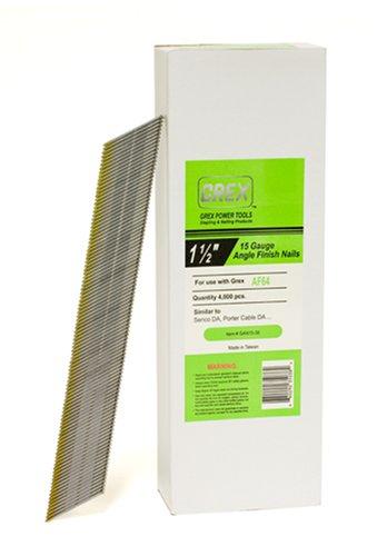 GREX GAN15-38 15 Gauge 1-1/2-Inch Length Angle Finish Nails (4,000 per box)