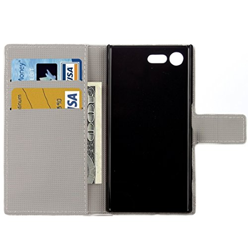 Beautiful & practical Para Sony Xperia X patrón de mariposa azul patrón horizontal Flip caja de cuero con el titular y ranuras para tarjetas y cartera ( SKU : Mlc2342k ) Mlc2342f