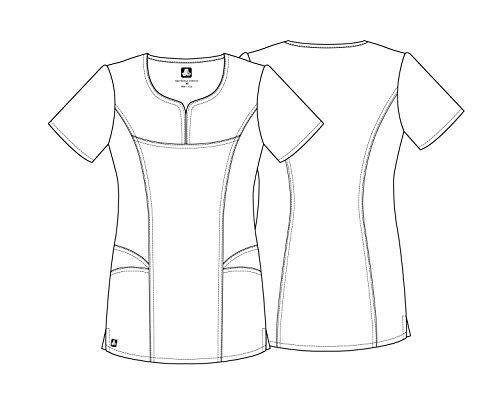 Adar Universal Scrubs for Women - Curved Glamour Scrub Top