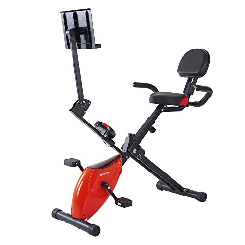 Ancheer Folding Recumbent Bike Fitness Magnetic Exercise Cycling Bike (Exercise Foldable Bike)