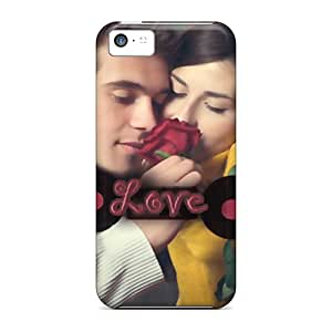 RAndersons Snap On Hard Case Cover Love Is Like Rose Protector For Iphone 5c