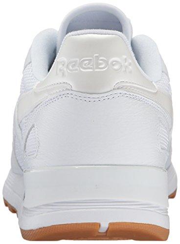 Reebok Mens Cl Leather 2.0 Fashion Sneaker Bianco / Nero Gomma