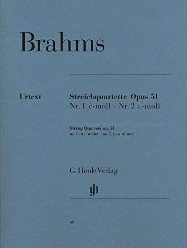 Brahms: String Quartets Op. 51: No. 1 in C Minor, No. 2 in A Minor ()