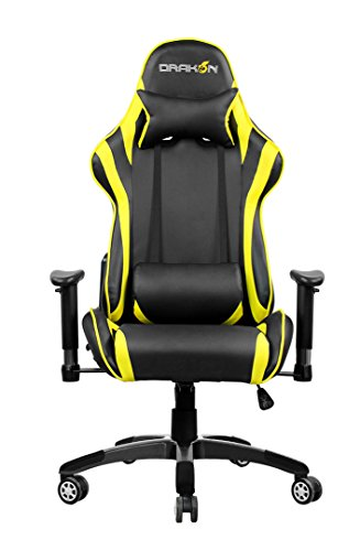 41YEm3TB01L - Raidmax Drakon Gaming Chair, Yellow