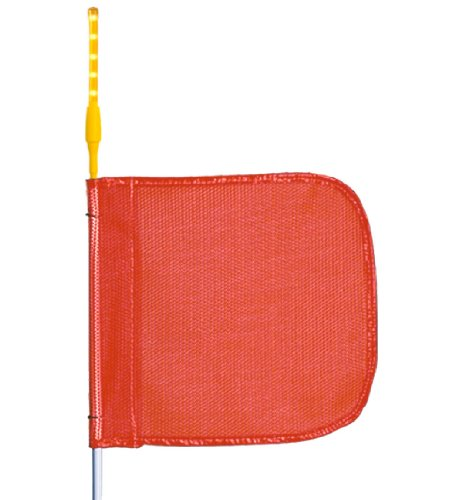 (Flagstaff G10 Safety Flag with LED Light, Threaded Hex Base, 12