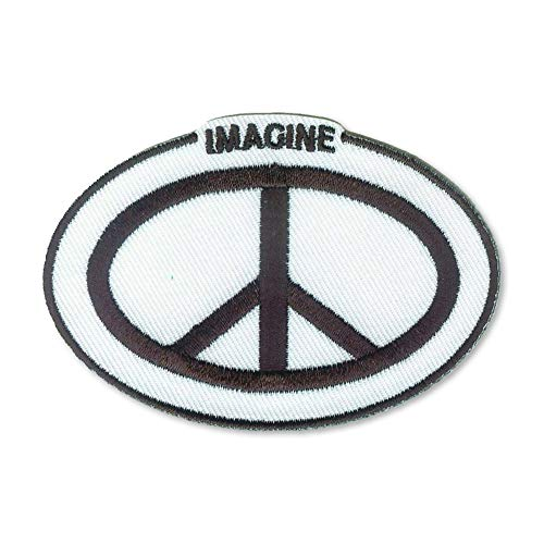 Imagine Peace Sign Symbol Beatles John Lennon Inspired Embroidered 3