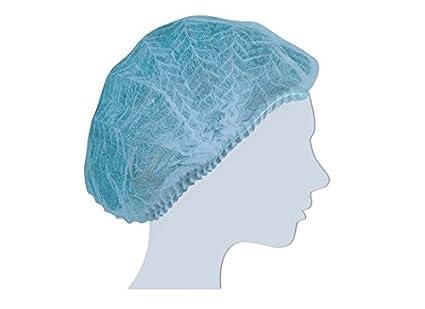 100 Retine Cuffie tnt azzurro plissè monouso cuffia morbido elastico   Amazon.it  Commercio 4c6c1d6c0168
