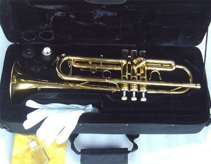 Anaxa Brass Concert Band Trumpet w/Case.Approved+Warranty