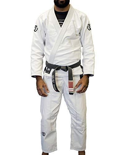 (Lightweight Gi for Jiu Jitsu BJJ, Comfortable Brazilian Jui Jitsu Uniform for Men or Women, Ripstop Pants for Ju Jiujitsu Martial Arts, Unisex Adult Mens or Womens, Wear Over Rash Guard; Includes Bag)