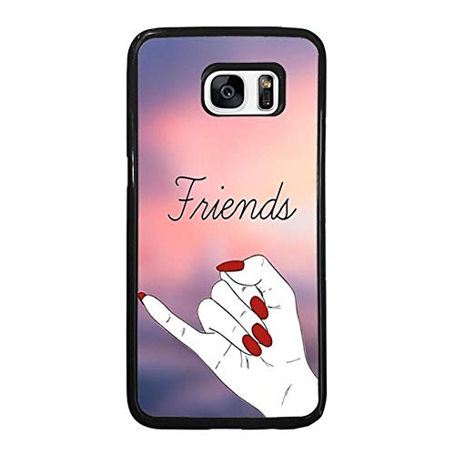 Skinsends Vanity Girl Best Friends Case Cover Compatible with Galaxy S7, Pink Girls Protective Case Compatible with Samsung Galaxy -