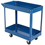 DURHAND Steel 2-Tier Rolling Tool Cart Utility Cabinet Storage Chest