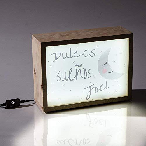 Caja de luz Led infantil para una decoración personalizada, regalo para recién nacido - 28x21x9