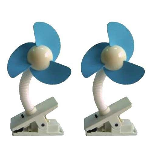 Dream Baby Stroller Fan, White/Blue - 2 Pack by Dreambaby (Image #1)
