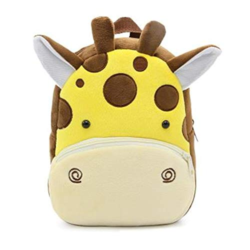 Cute Toddler Backpack Toddler Bag Plush Animal Cartoon Mini Travel Bag for Baby Girl Boy 1-6 Years (Giraffe) ()