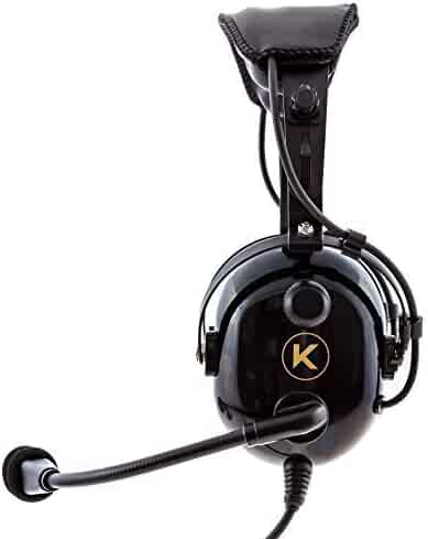 KORE AVIATION KA-1 Premium Gel Ear Seal PNR Pilot Aviation Headset with MP3 Support and Carrying Case