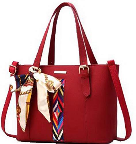 AgooLar Donna cerniere Moda Dacron Shopping Borse a tracolla, GMMBA181796, Nero Chiaretto