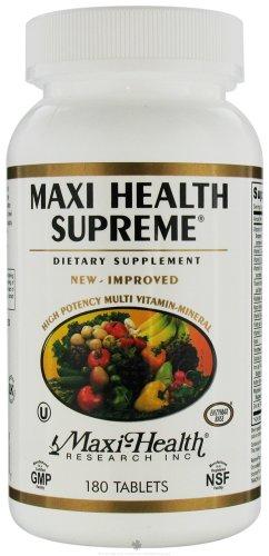 180 Tabs Maxi Health Supreme - Maxi Health Kosher Vitamins Maxi Health Supreme 180 Tab