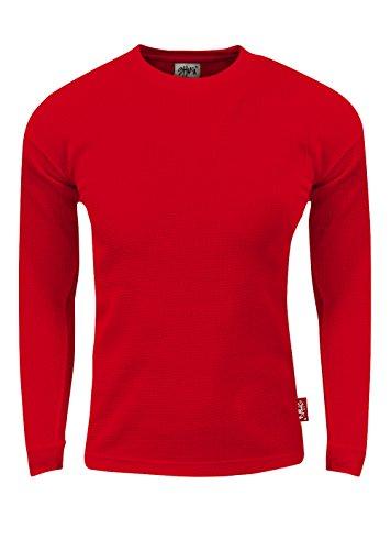 TC10_XL Thermal Long Sleeve Crewneck Waffle Shirt Red 1X