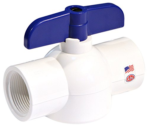 King Brothers Inc. EBV-1000-T 1-Inch Threaded PVC Schedule 40 Economy Ball Valve, White Fip Pvc Valves