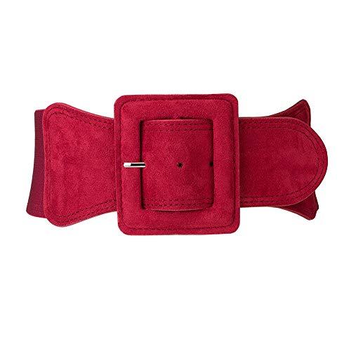Aecibzo Women's Wide Elastic Waist Belt Waistband Plus Stretchy Cinch Belts (Fit waist 27