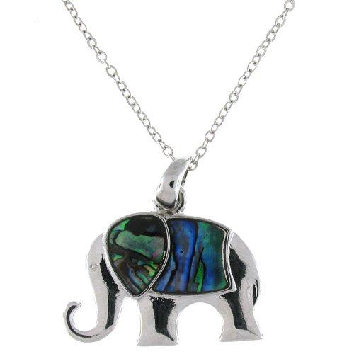 Abalone Paua Shell Green Elephant Pendant ()