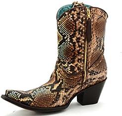 Corral Womens Python Short Top Fashion Boots