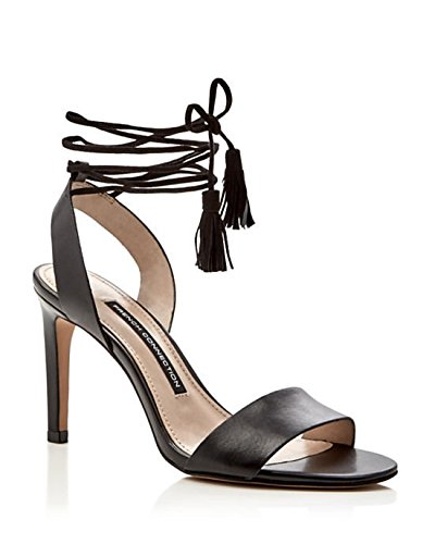 41a8aa3a04 Image Unavailable. Image not available for. Color: French Connection Liesel  Lace Up High Heel Black Sandals Shoes 11
