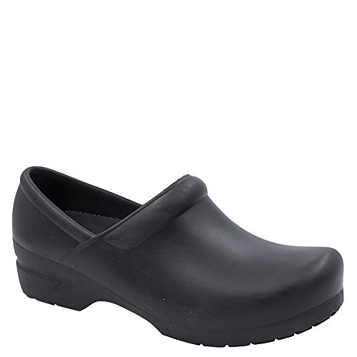 Anywear Women's Sr Angel Clog With Anatomical Foot Bed Black by Anywear