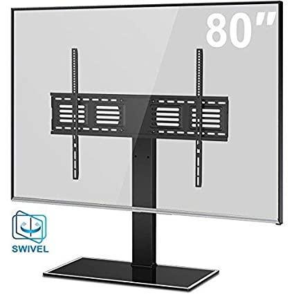 9bed8b70f0 Amazon.com  FITUEYES Universal TV Stand with Swivel Mount Height ...