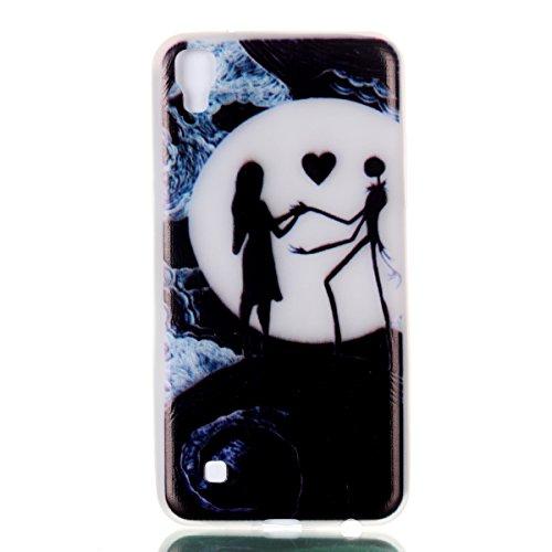 LG X Power Gel de Silicona Funda(con Gratis Lápiz táctil) KaseHom Efecto Luminoso Noctilucent Verde Brillan en la Oscuridad Guay Moda Vistoso Patrón Diseño Transparente Ultra Fino DelgadoClaro Mate A Pesadilla Antes Navidad