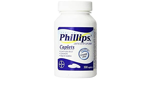 Amazon.com: Phillips Laxative Caplets 100-Count by Phillips: Health & Personal Care