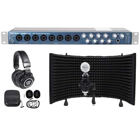 PreSonus Audiobox 1818 VSL USB MIDI Interface W/efectos + auriculares + micrófono + Shield: Amazon.es: Instrumentos musicales