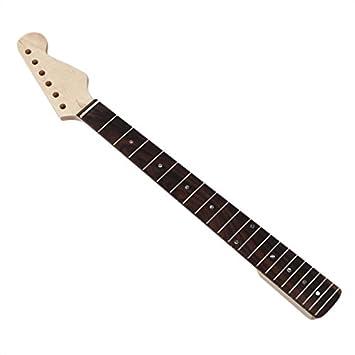 REFURBISHHOUSE Cuello de arce de guitarra electrica Strat ST Reemplazo de diapason de palisandro: Amazon.es: Instrumentos musicales
