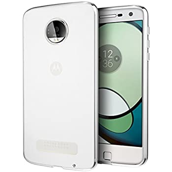 Moto Z Play Case, Cimo [Grip] Premium Slim Protective Cover for Motorola Moto Z Play Droid (2016) - Clear