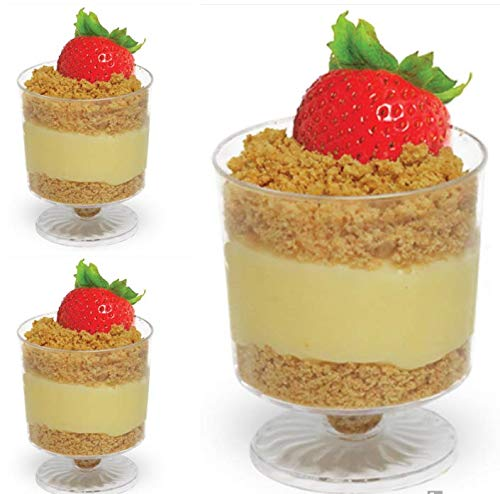 Majestic Settings Mini Mousse Cup | Heavy Duty Plastic | Miniature Dessert Mousse Cup | Savings Pack of 24 Stands (Mini Mousse Cup)