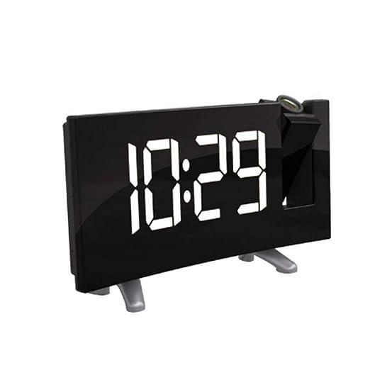NAOZHONGa Proyector Digital Radio Reloj Despertador ...