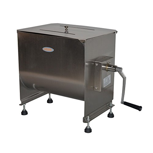 Hakka 60-Pound/30-Liter capacity Tank Stainless Steel Manual Meat Mixer (Mixing Maximum 45-Pound for Meat)