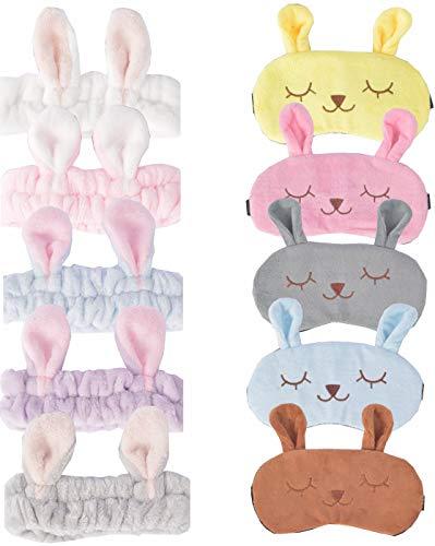 Rabbit Sleeping Masks Plush Blindfold