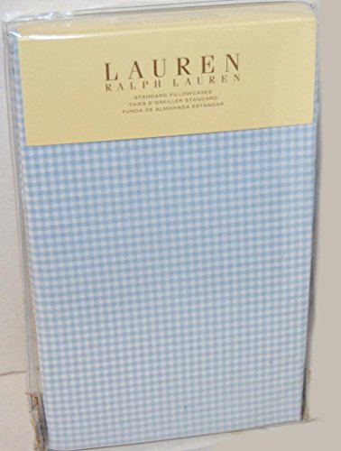 Lauren by Ralph Lauren Georgica Garden Sanabel Blue Gingham Set of 2 STANDARD Pillowcases