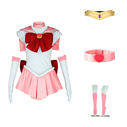 AnotherMe Women's Costume Sailor Moon Chibi USA Chibi Cosplay Outfit Uniform Dress Suit Female Small]()