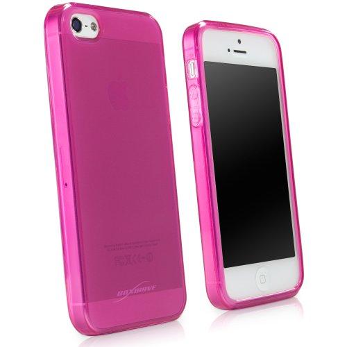 BoxWave Étui iPhone 5Pure Cristal coloré–slim fit antidérapant givré Coque gel TPU pour protection antidérapant Durable–iPhone 5Coques et housses Cosmo (Rose)