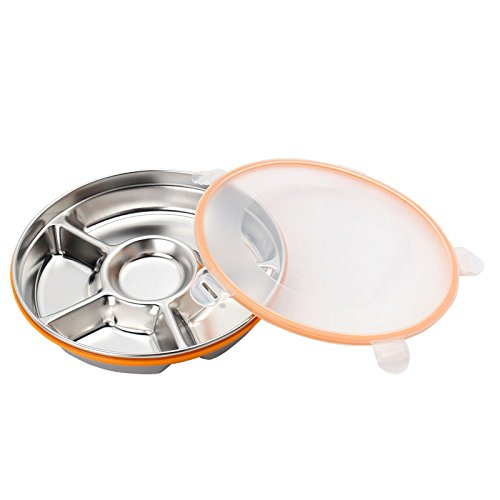 Sino Banyan Stainless Steel Bento Box Food Storage Containers Lunch Box 5 Comparements