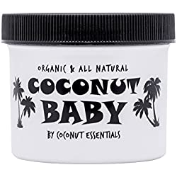 COCONUT BABY OIL Organic Moisturizer - Vitamin E Oil for Hair and Skin Care - Cradle Cap Treatment, Eczema and Psoriasis Relief - Massage - Sensitive Skin, Diaper Rash Guard, and Stretch Marks (4 oz)
