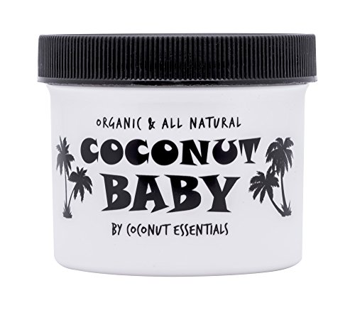 COCONUT BABY OIL Organic Moisturizer - Vitamin E Oil for Hair and Skin Care - Cradle Cap Treatment, Eczema and Psoriasis Relief - Massage - Sensitive Skin, Diaper Rash Guard, and Stretch Marks (4 oz) (Acne Baby Treatment)