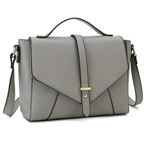 Medium Sized Crossbody Purses Ladies Designer Shoulder Bags for Women Handbags (Light - Over Flap Body Bag Cross