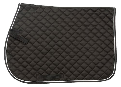 - Tough 1 EquiRoyal Square Quilted Cotton Comfort English Saddle Pad, Black