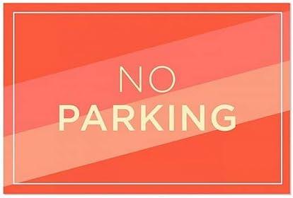 No Parking CGSignLab 36x24 Modern Diagonal Window Cling