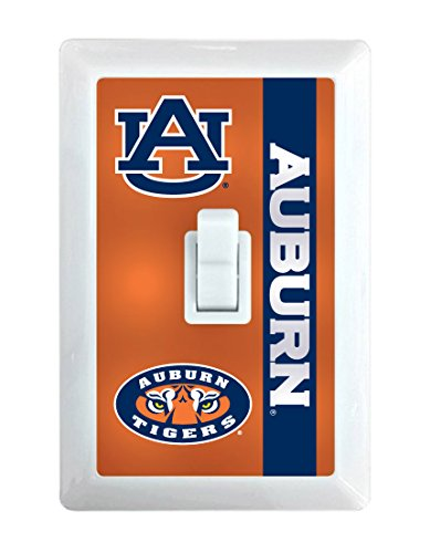 NCAA Auburn Tigers LED Illuminated Light Switch Cover-Auburn University Light Switch Night Light