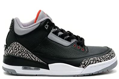 brand new 667e8 75d5d Image Unavailable. Image not available for. Color  Air Jordan 3 Retro (Black  Varsity Red-Cement Grey) ...